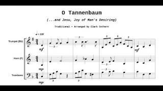 O Tannenbaum - Brass Trio - Available at Musicforbrass.com