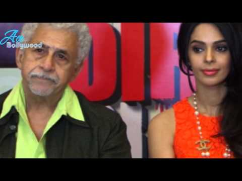 Naseeruddin Shah, Mallika Sherawat at Press conference of Dirty Politics