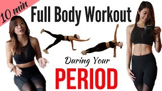 """10 min Workout on Period! Best Exercises During """"That Time of the Month"""" to Help with PMS"""