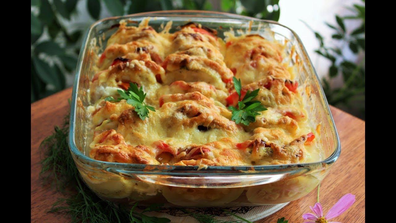 Кабачки с помидорами в духовкеы быстро и вкусно