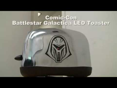 Battlestar Galactica Cylon Toaster with LED Light - YouTube