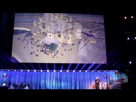 Storybook Castle virtual fly-through and ride info for Shanghai Disneyland at the 2011 D23 Expo