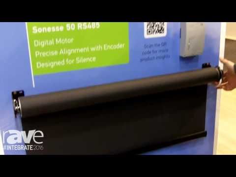 Integrate 2016: Somfy Demos Its Sonese 50 RS485 Digital Motor on the KNX Stand