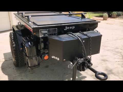 M416 Jeep Off Road Expedition Trailer - with Truck Covers USA Retractable Cover