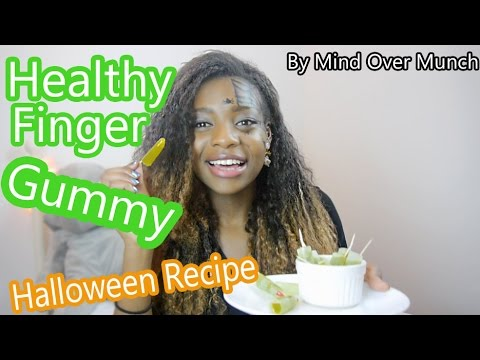 Healthy Finger Gummy Halloween Recipe by Mind Over Munch