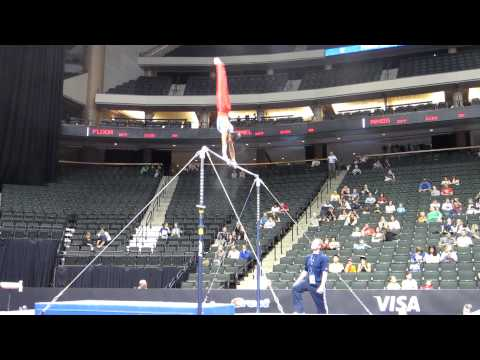 Yul Moldauer - 2011 Visa Championships - High Bar - Triple Double Dismount!!