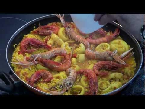 Paella de mariscos Lerele Vídeo receta 22 aquí cocinamos todos Cooking recipe