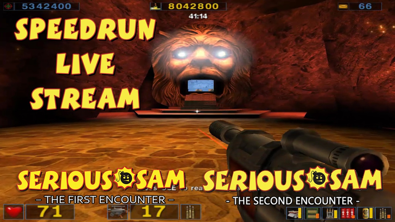 Serious Sam (TFE & TSE) - SpeedRun - БЫСТРОЕ ПРОХОЖДЕНИЕ ДВУХ ЧАСТЕЙ! (LIVE)