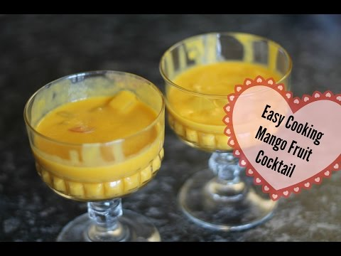 How to : Easy cooking Mango Fruit Cocktail Dessert || Cooking With Raji