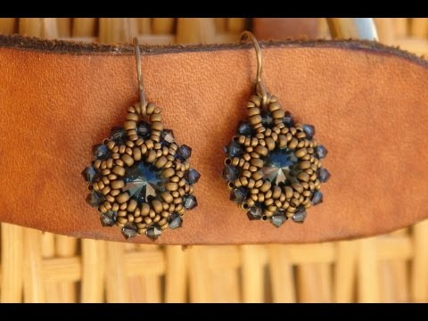 Sidonia s handmade jewelry - Rivoli earrings tutorial