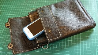Making a Leather Sling Bag