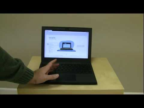 Google Chrome Notebook Cr-48 Unboxing and First Boot
