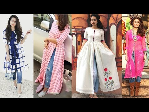 Latest Most Stylish Slit Kurti Designs 2018 - 2019 | Types of Designer Kurtis