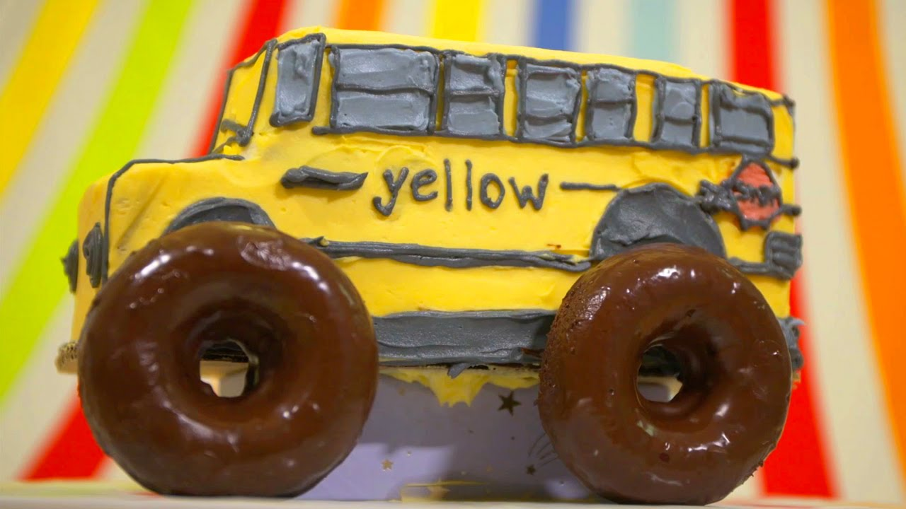 School Bus Monster Truck Toy Monster Truck School Bus Cake