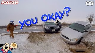 Ice Road Groms | Car Crash | Who You Honking At?!