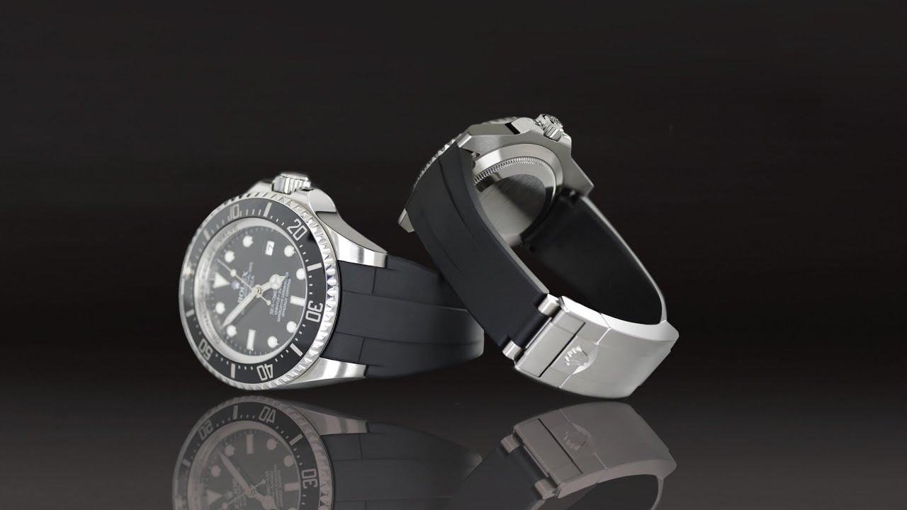 Rolex Submariner Rubber Strap ROLEX DEEPSEA on Rubber B