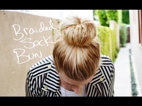 DIY Braided Sock Bun with Mr. Kate