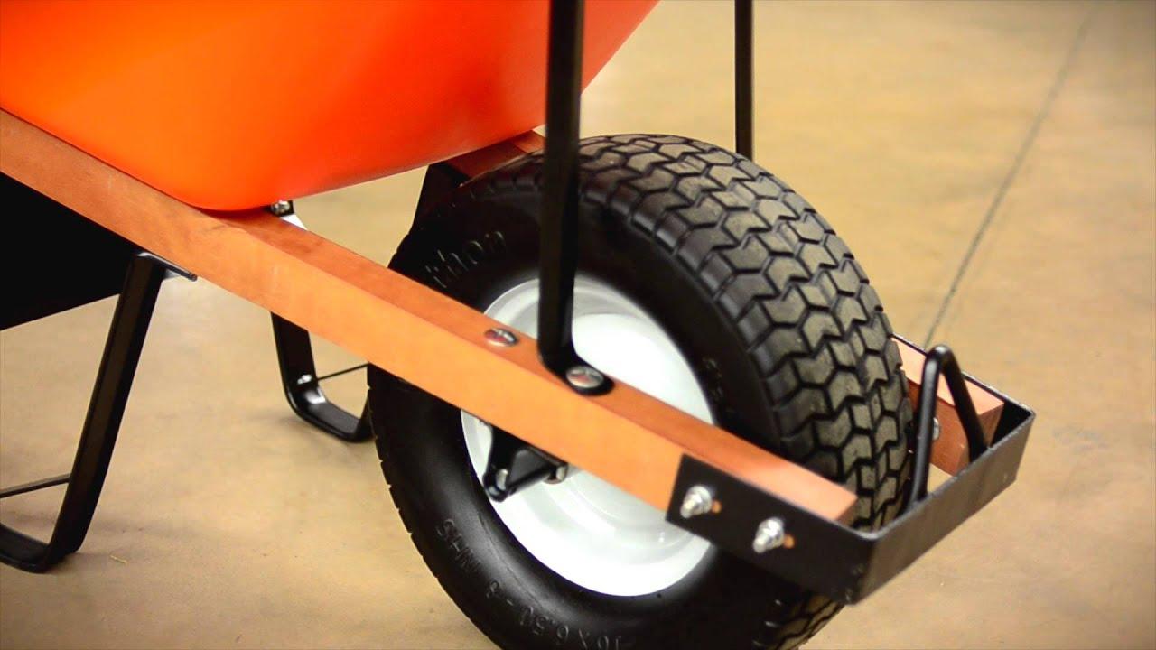 Poly Tray Wheelbarrow with Flat Free Tire. - YouTube