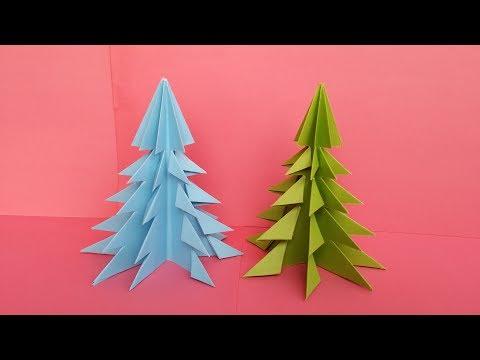 DIY 3D Paper Christmas Tree !!! How to Make a 3D Christmas / X-mas Tree !!!!
