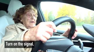 "92 year-old Roosi gets to drive a Tesla Model X: ""I'll take it!"""
