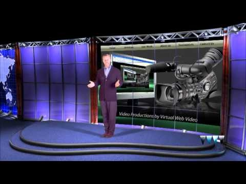 "Video Production Services Green Screen Virtual Reality Set - ""World News"""