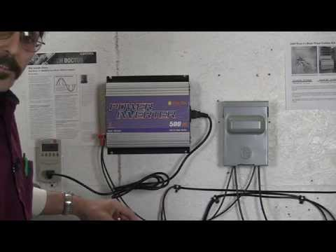 Sun grid tie inverter plug and play install