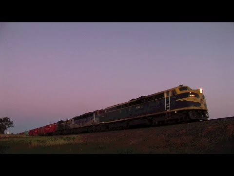 Pota Container Train As Dusk.  Mon 05 12 11 video