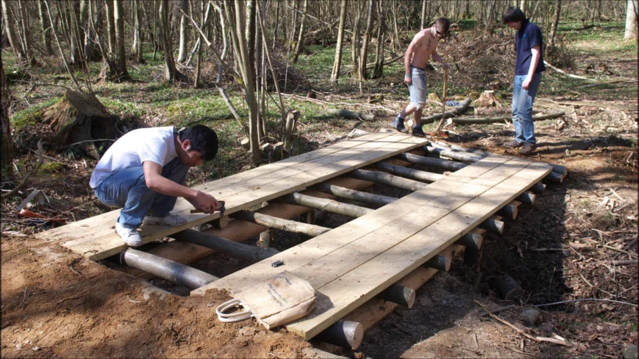 Building A Footbridge Over A Creek