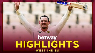 Highlights | West Indies v South Africa | de Kock Hits 141* | 1st Betway Test Day 2 2021