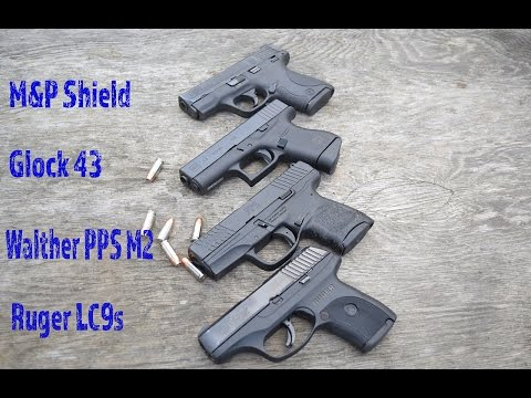 The Ultimate Single Stack Shootout! Lc9s vs Glock 43 vs M&P Shield vs PPS M2