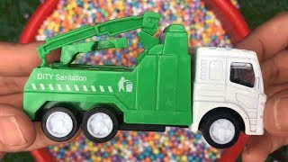 Cars for kids: Learning Construction Vehicles for Kids - Dump Trucks, crane truck, Garbage truck