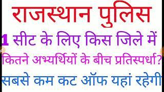Rajasthan Police Sabse kam Cut Off kaha Rahegi