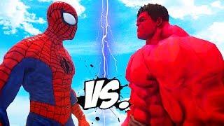 ULTIMATE SPIDERMAN VS RED HULK