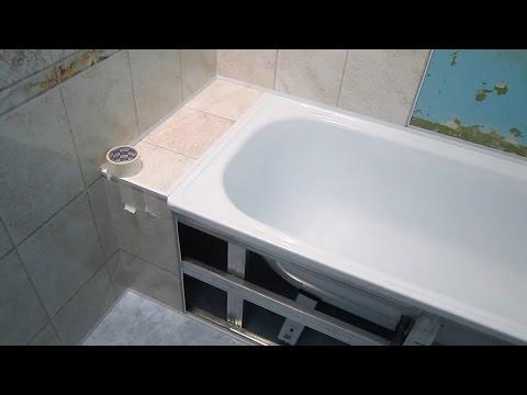 Ремонт ванны своими руками панелями видео