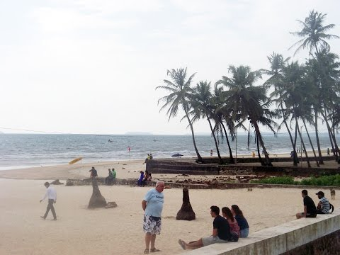 Famous Colva Beach Near Madgoan City - Goa Tourism - Indian Beach Video