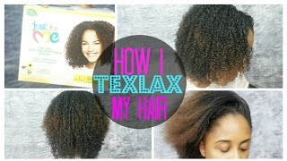 How To Texlax Your Hair Tutorial | 3b/3c/4a/4b Hair | Just For Me Texture Softener