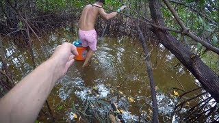 Exploring Rain forest like Fishing Spots! (Tarpon and Spotted Gar)