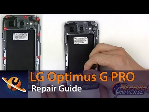 LG Optimus G Pro Screen Replacement Repair Guide