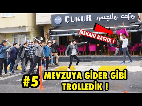 TOPLUCA İNSANLARIN ÜSTÜNE KOŞMA ŞAKASI İLE TROLLEDİK 5 !