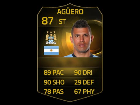 FIFA 15 IF AGUERO 87 Player Review & In Game Stats Ultimate Team