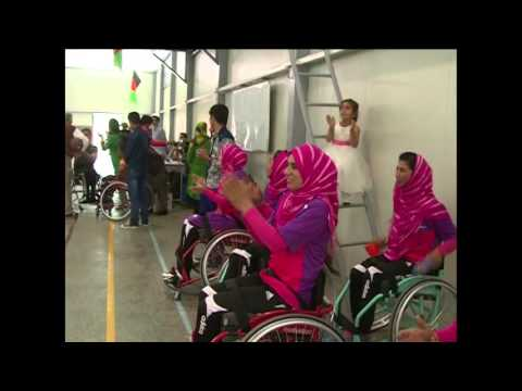Afghan women with disability exercise to contest Paralypics tournaments