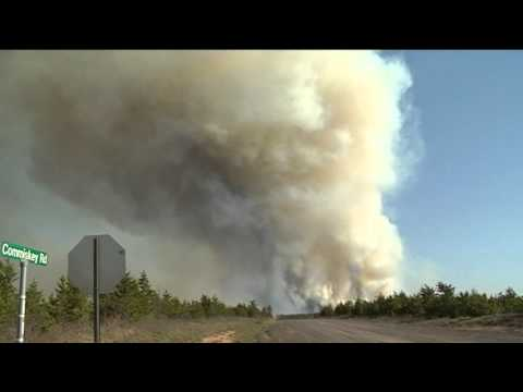 Germann Rd Fire, Barnes Gordon Solon Springs Wisconsin RAW FOOTAGE