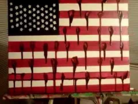 (bloody/bleeding) american flag youtube