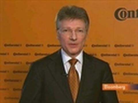 Continental's Degenhart Says Rubber Price Is `Burden'