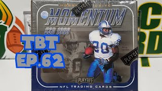 1999 Playoff Momentum SSD Football Hobby Box Opening. TBT EP 62