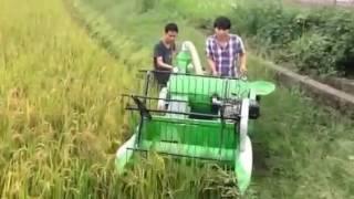 Máy gặt lúa mini hàng chất lượng thích nghi ruộng nhỏ manh mún LH:0988566189