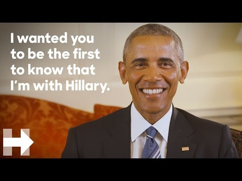 President Barack Obama endorses Hillary Clinton for president | Hillary Clinton