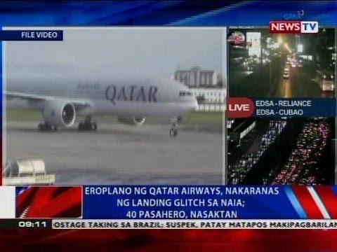 NTVL: Eroplano ng Qatar Airways, nakaranas ng landing glitch sa NAIA