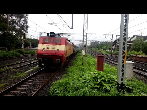 Bsl's Icf Raj Livery Wap-4 22361 With Ltt-faizabad Express Speedy Skips Bhandup video