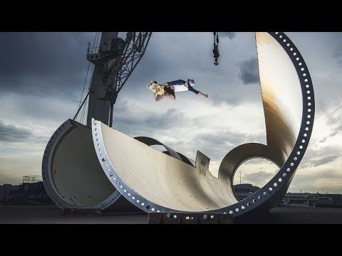 Sheckler & Co. Skate a Wind-Turbine Park